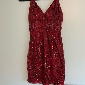 PrettyLittleThing Bodycon sequin homecoming dress
